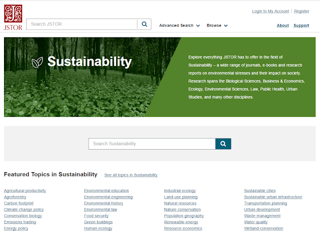 JSTOR Sustainability