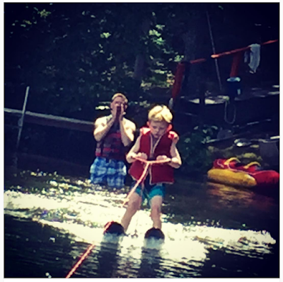 mac, waterskiing, cabin, july 4