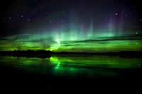 Aurora over Edmonton