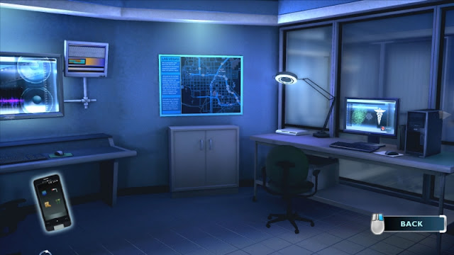 Laborator de investigaţii criminalistice - interfaţă joc CSI