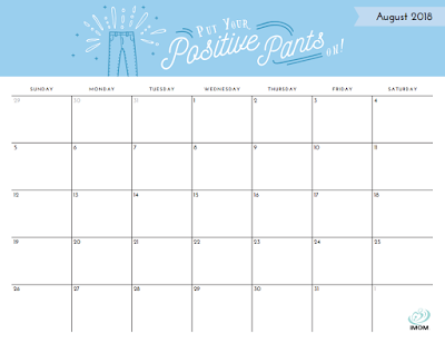 2018 positive thoughts calendar
