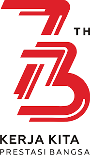 Logo Resmi HUT RI ke-73 Tahun 2018