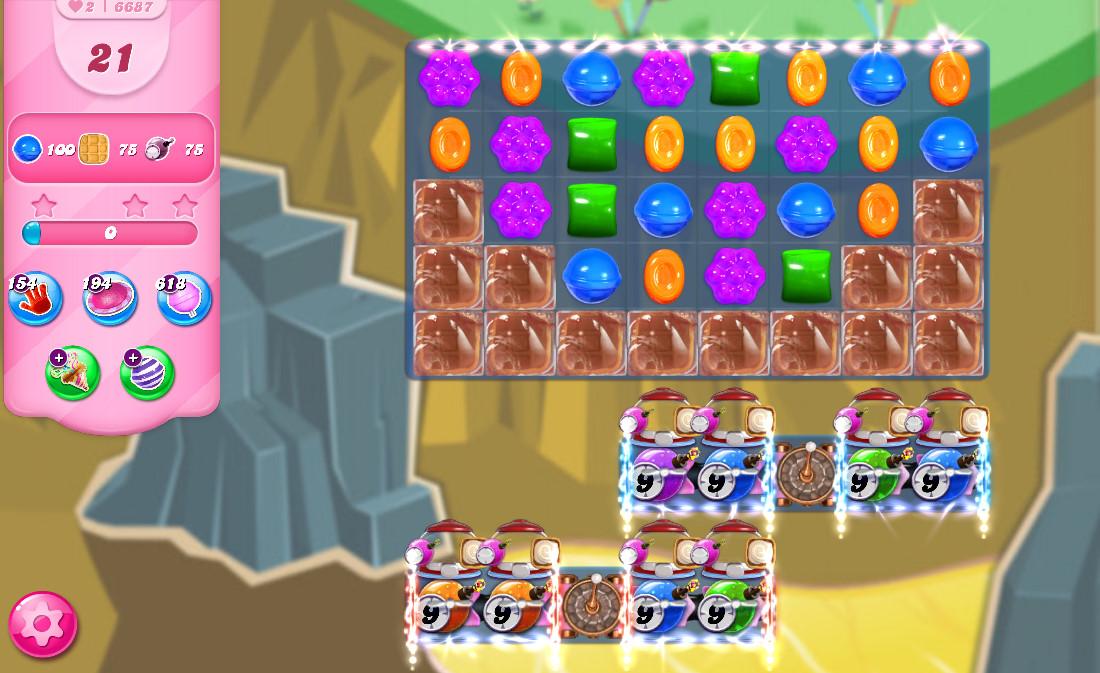 Candy Crush Saga level 6687