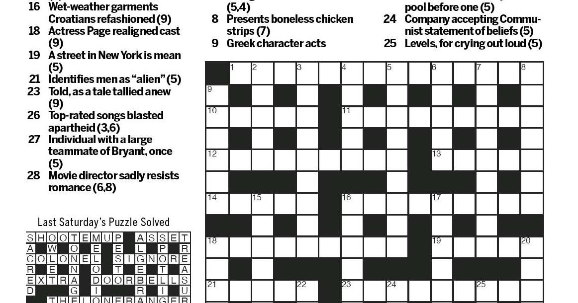 National Post Cryptic Crossword Forum Saturday August 20 2016 Music For Many Tastes