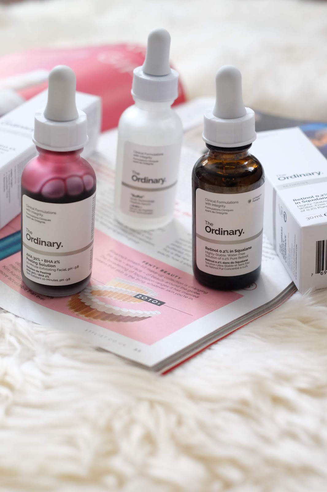 "The Ordinary - AHA + BHA, Retinol, ""Buffet"""