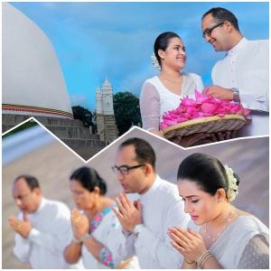 Pasanda Yapa's pre-wedding shoot at Ruwanveliseya