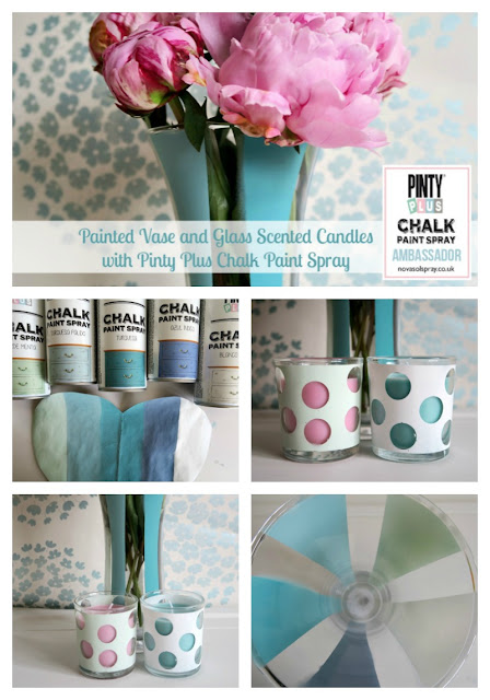 Pinty Plus Chalk Paint Spray from Novasol UK Vase and Candle Holders