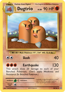 Dugtrio XY Evolutions Pokemon Card
