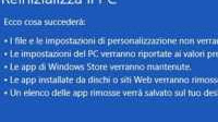 Ripristinare, reinstallare o reinizializzare Windows 8 da un backup