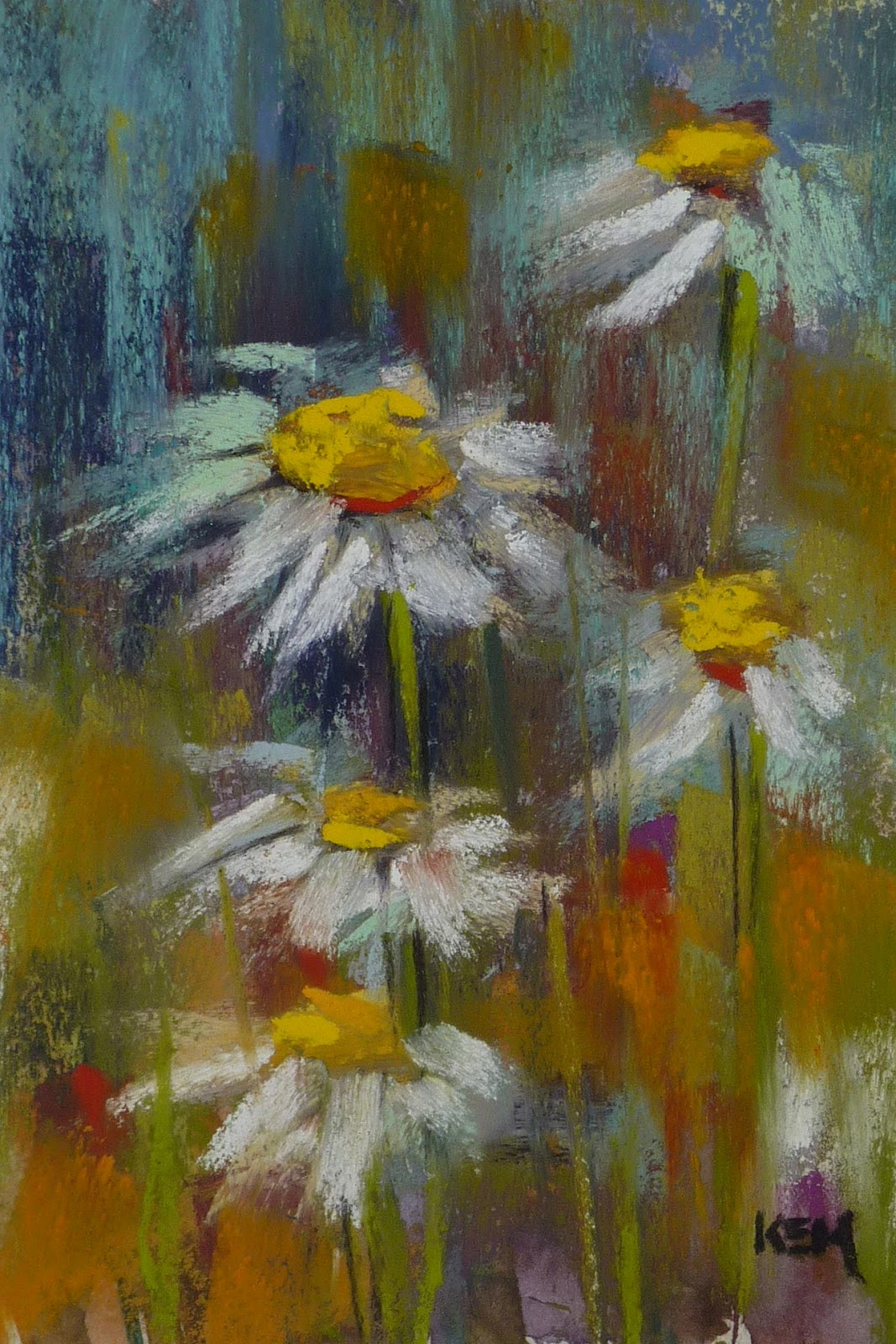 Painting My World Demo Monday Painting Daisies In Pastel