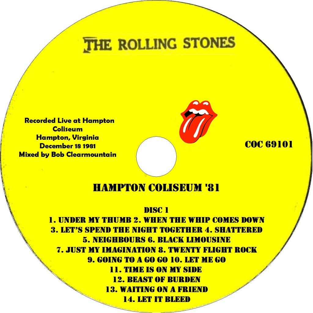 Hampton 1981 está oficializado e disponível para download - Stones