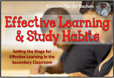 Tips for teaching effective learning and study habits for the secondary classroom