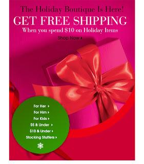 Avon Free Shipping Code November 2012|Avon Holiday Boutique