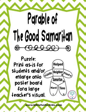 Bible Fun For Kids Cathy S Corner Parable Of The Good Samaritan