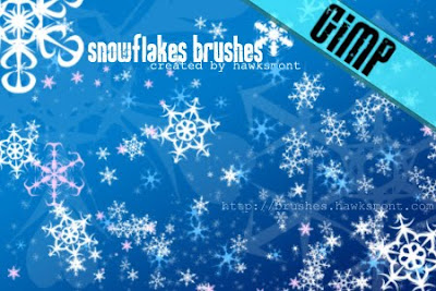 Gimp Brushes Snowflakes