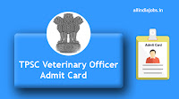 TPSC Veterinary Officer Admit Card