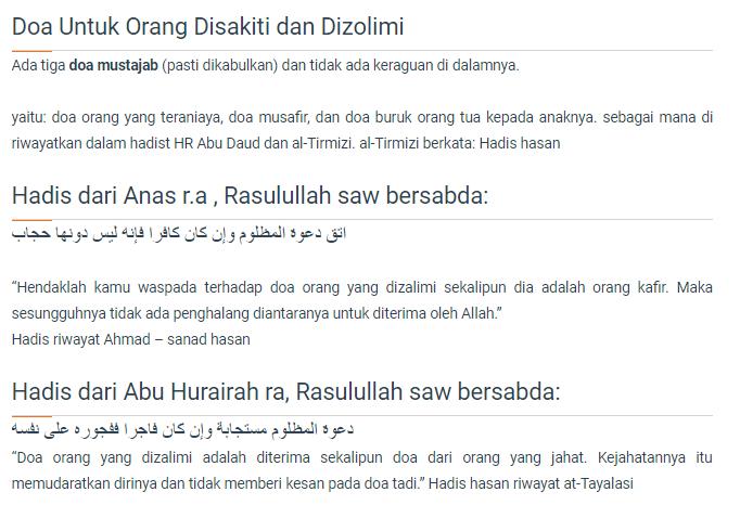 Doa Untuk Orang Disakiti dan Dizolimi - Doa Agama Islam