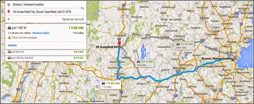 Google Maps: 25 Greenfield Road South Deerfield, MA 01373