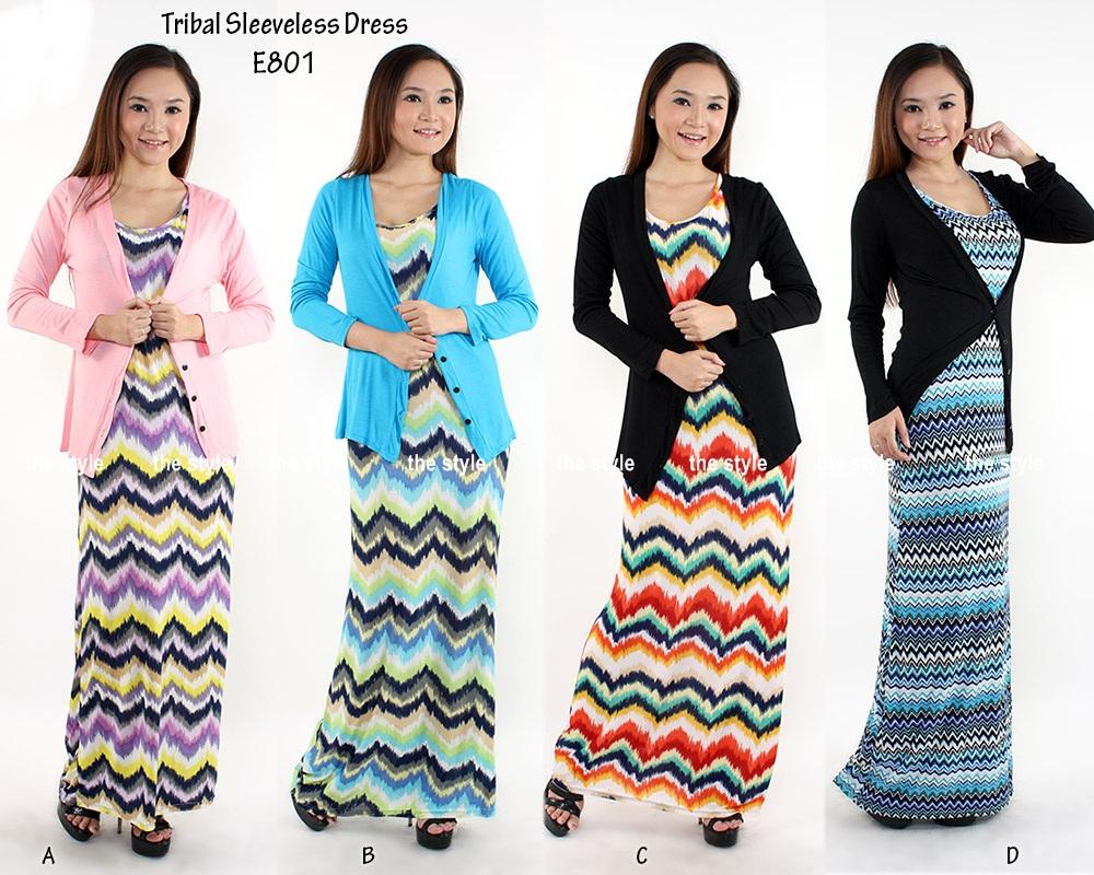 khasiat jamu lifeku new sleeveless tribal dress with cardigan w o cardigan