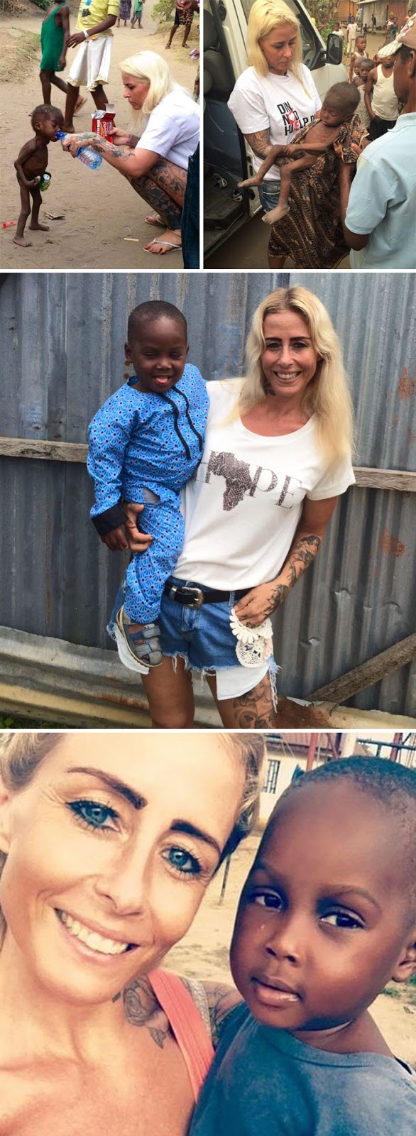 40 Times 2016 Restored Our Faith In Humanity - Danish Woman Rescues 2-Year-Old Nigerian Boy Who Was Abandoned And Left To Die Because His Parents Thought He Was A Witch