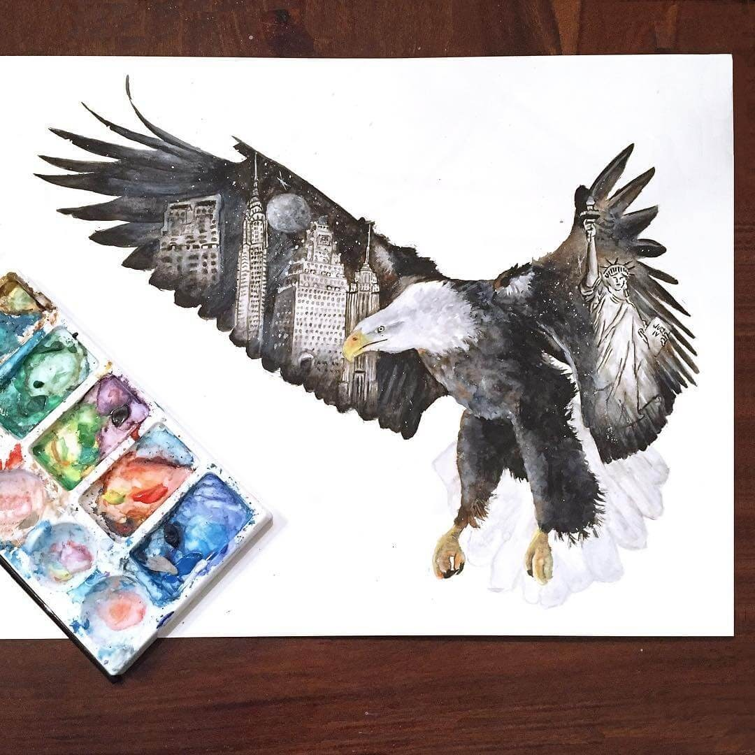 12-New-York-Eagle-Kathrin-Schwarz-Animal-Paintings-in-Different-Styles-www-designstack-co
