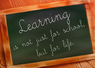 learning for life chalkboard
