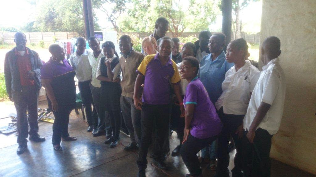 The Hollywoodbets Makhado team with children from the Rivoni Society for the Blind