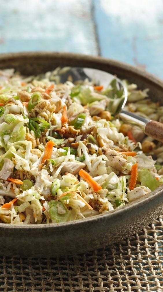 Picnic time! Pack Crunchy Chicken Salad for your next picnic in the park!