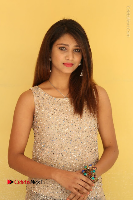 Tollywood Upcoming Actress Arthi Stills in Black Skirt at Plus 1 Movie Trailer Launch  0001.JPG