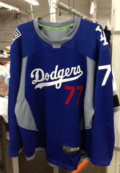 0346225328d Bid on Some of Those Great Dodgers  Hockey Jersey s Now! Last week was Dodger  Pride Night at the LA Kings game ...