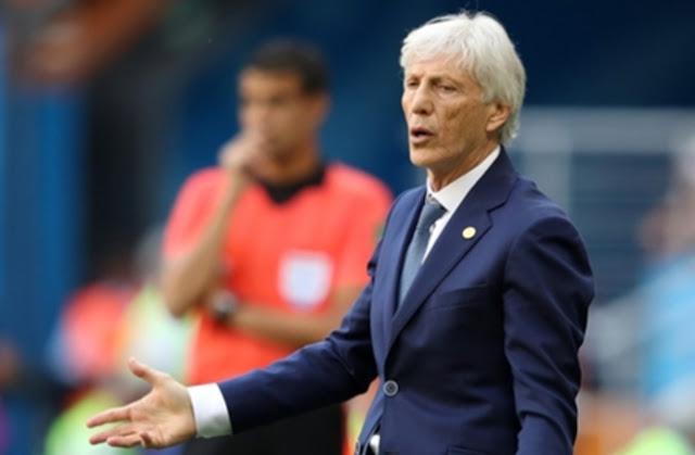 مدرب كولومبيا تعليقا على التحكيم: هناك شيء ما يحدث في كرة القدم