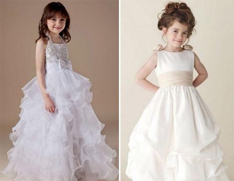 desain baju pesta anak perempuan