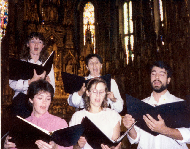 Singing Latin Mass at Notre Dame de Lourdes,  Ottawa, 1987