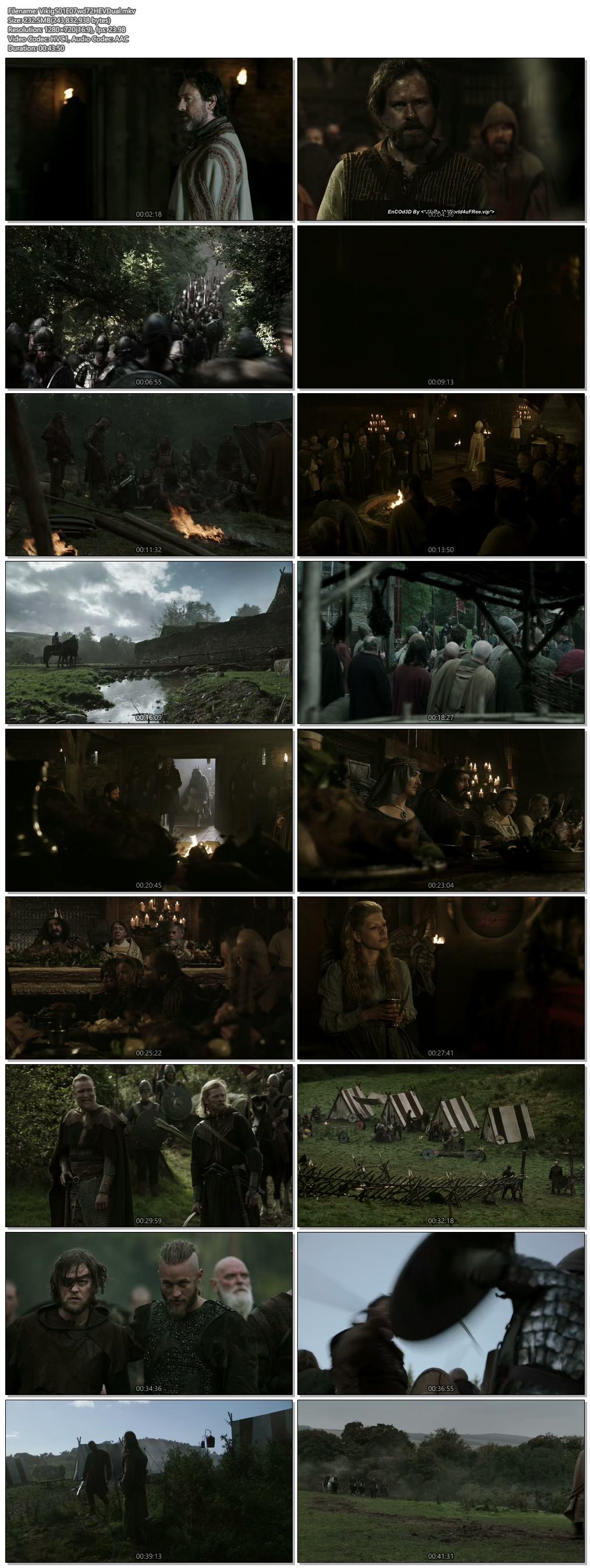 Screenshots Of Hindi Dubbed Show Vikings 2013 Season 01 Episode 07 300MB 720P HD
