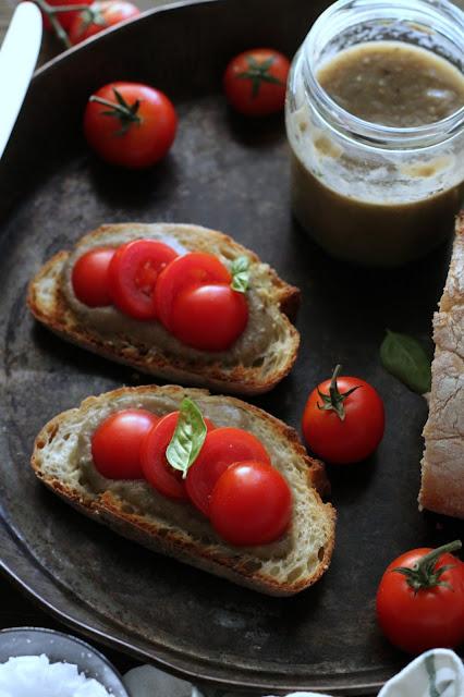bruschette-crema di melanzane-cucina-fornetto versilia