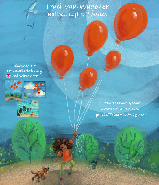 Balloon Lift Off Prints and More on Redbubble by Traci Van Wagoner