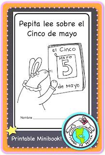 Pepita lee sobre el Cinco de mayo printable minibook