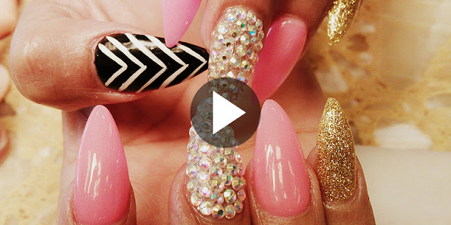 How To Make Elegant Stiletto Acrylic Nails Designs - See Tutorial