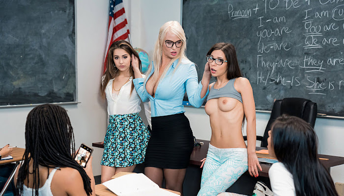 RealityKings / Moms Lick Teens - London River, Sofie Reyez And Milana May Teachers Pets