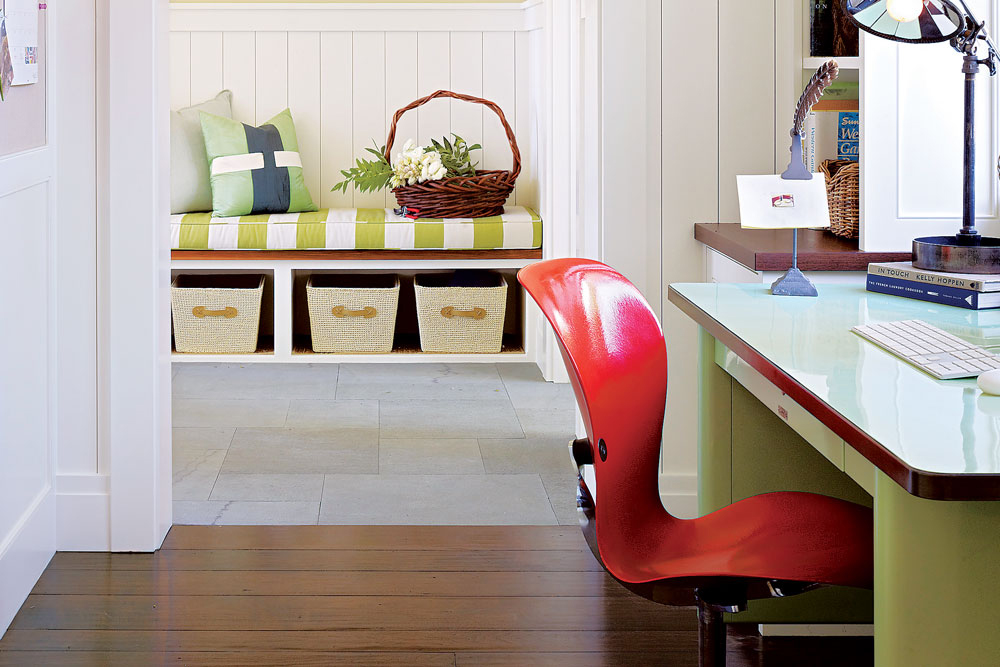 Desk and office in Napa Valley farmhouse by Ken Fulk in C Magazine
