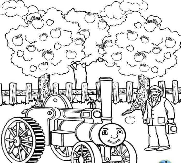 Kids Free online coloring pages Thomas train printable