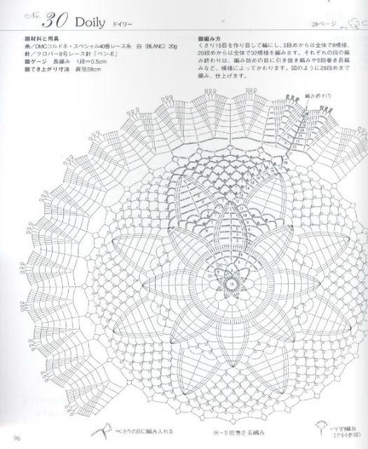 World crochet: Napkin 354