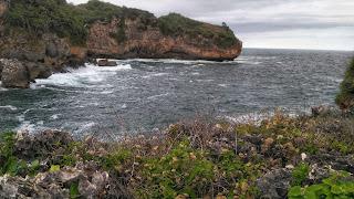 Panorama pantai Gesing dari Ketinggian