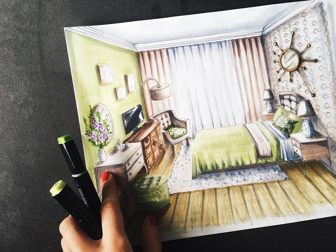 03-Guest-Bedroom-Natalia-Pristenskaya-Дизайнер-интерьеров-Interior-Design-Sketches-www-designstack-co