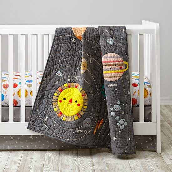The Parker Project Deep Space Crib Bedding From Land Of Nod