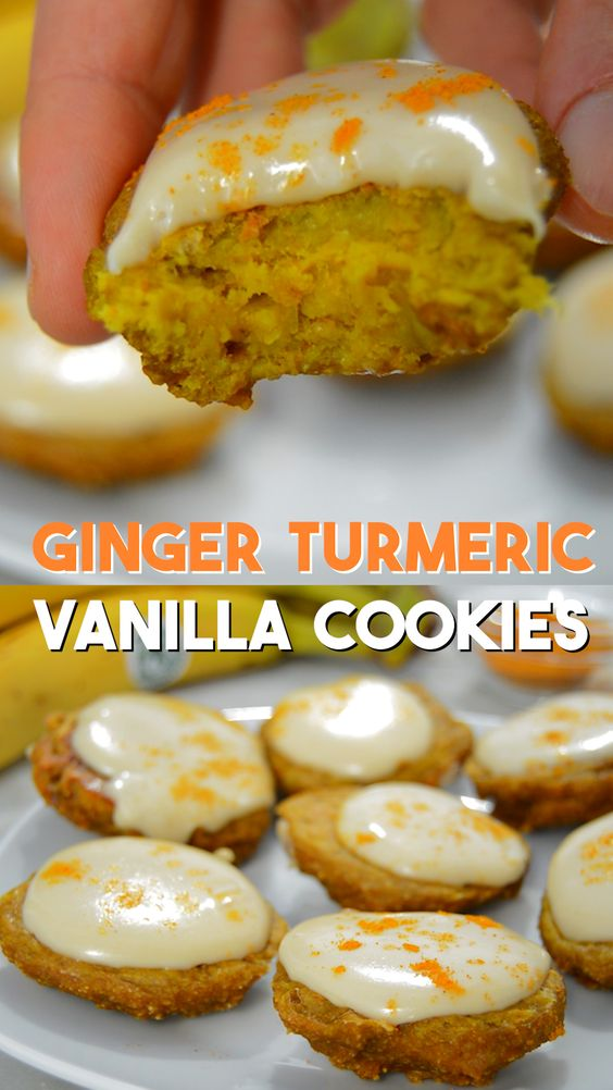 GINGER TURMERIC VANILLA COOKIES RECIPE