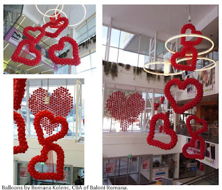 Valentines Balloon Decor by Romana Kolenc