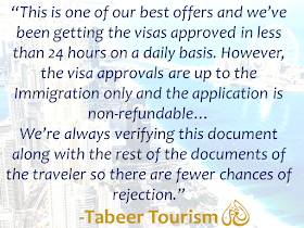 """The long queues, complicated documents and waiting just to get a visa in the UAE is now over.  In the United Arab Emirates, applying for a visa can be made in a flash. Applicants could even do it without visiting any travel agency.   UAE-based travel agency Tabeer Tourism allows you to apply for your visa in simpler steps regardless of your proximity.  All you need is that to have a UAE guarantor, who is a valid UAE resident visa holder who can be your friends or relatives, as long as he/she resides in the UAE which is one of the mandatory requirements for the visa application.  Advertisement        Sponsored Links   Any tourist wishing to visit UAE can apply for either a 30-day UAE visa or 90-day UAE visa. It can be of a single entry or multiple entries depending on the choice of the traveler. A visa for multiple entries allows the traveler to enter UAE multiple times within the span of a month or 3 months.     """"This is one of our best offers and we've been getting the visas approved in less than 24 hours on a daily basis. However, the visa approvals are up to the Immigration only and the application is non-refundable,"""" said the travel agency. """"We're always verifying this document along with the rest of the documents of the traveler so there are fewer chances of rejection,"""" it added.    Requirements:   • Six months or more valid passport.  • A clear passport sized photograph with white background.  • A UAE guarantor. (Guarantor documents – Passport, Emirates ID)    Under the agency's system, visitors don't need to physically visit them to submit their visa application. Instead, they can just follow three simple steps, and their work is done. Though, it is highly advised to always apply for the visa prior to booking of flights and hotel accommodations.      Step 1: Contact Tabeer Tourism at its toll-free number (800 TABEER 822337).  Step 2: Confirm your dates of travel and submit the required documents to the consultant via email.  Step 3: Get your visa approved wit"""