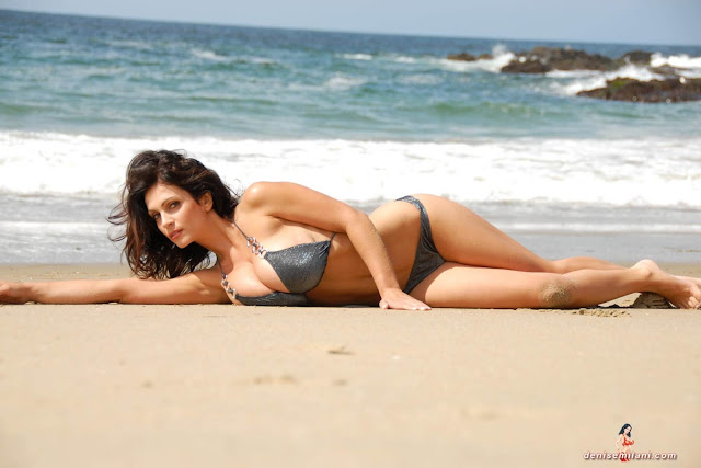 Denise-Milani-Beach-Silver-bikini-hottest-photoshoot-pics-27