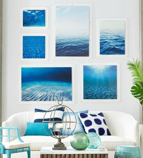 Ocean Photographs Mounted on Acrylic Frames